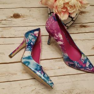 BCBG Tie Dye Heels